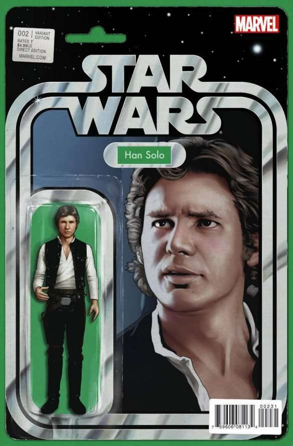 Star Wars #2 Action figure variant, han solo