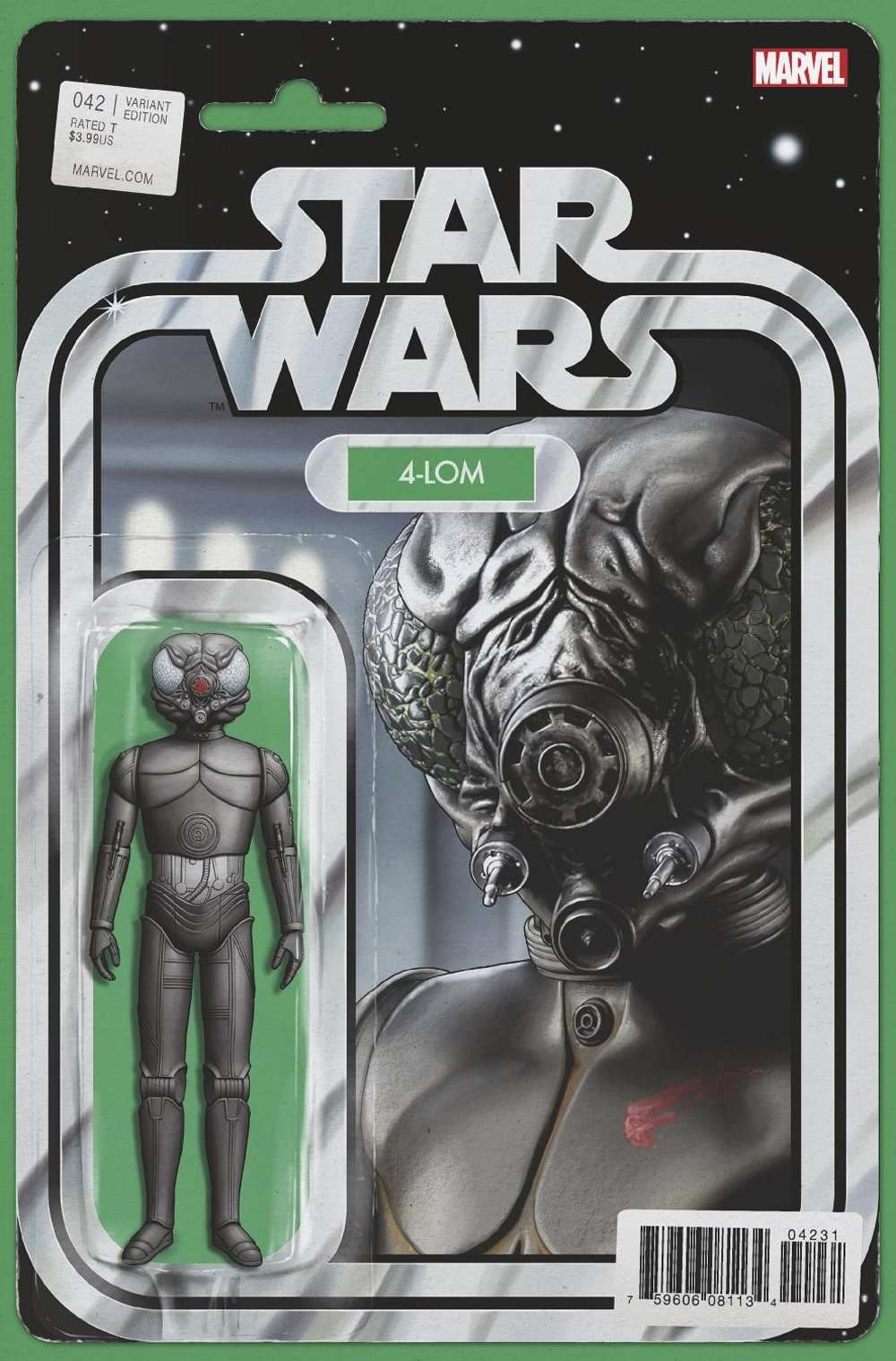 Star Wars #42 Action figure variant, 4-LOM