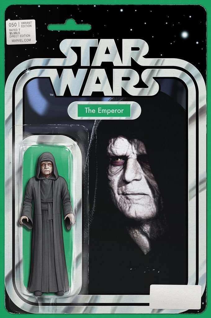 Star Wars #50 action figure variant, the Emperor