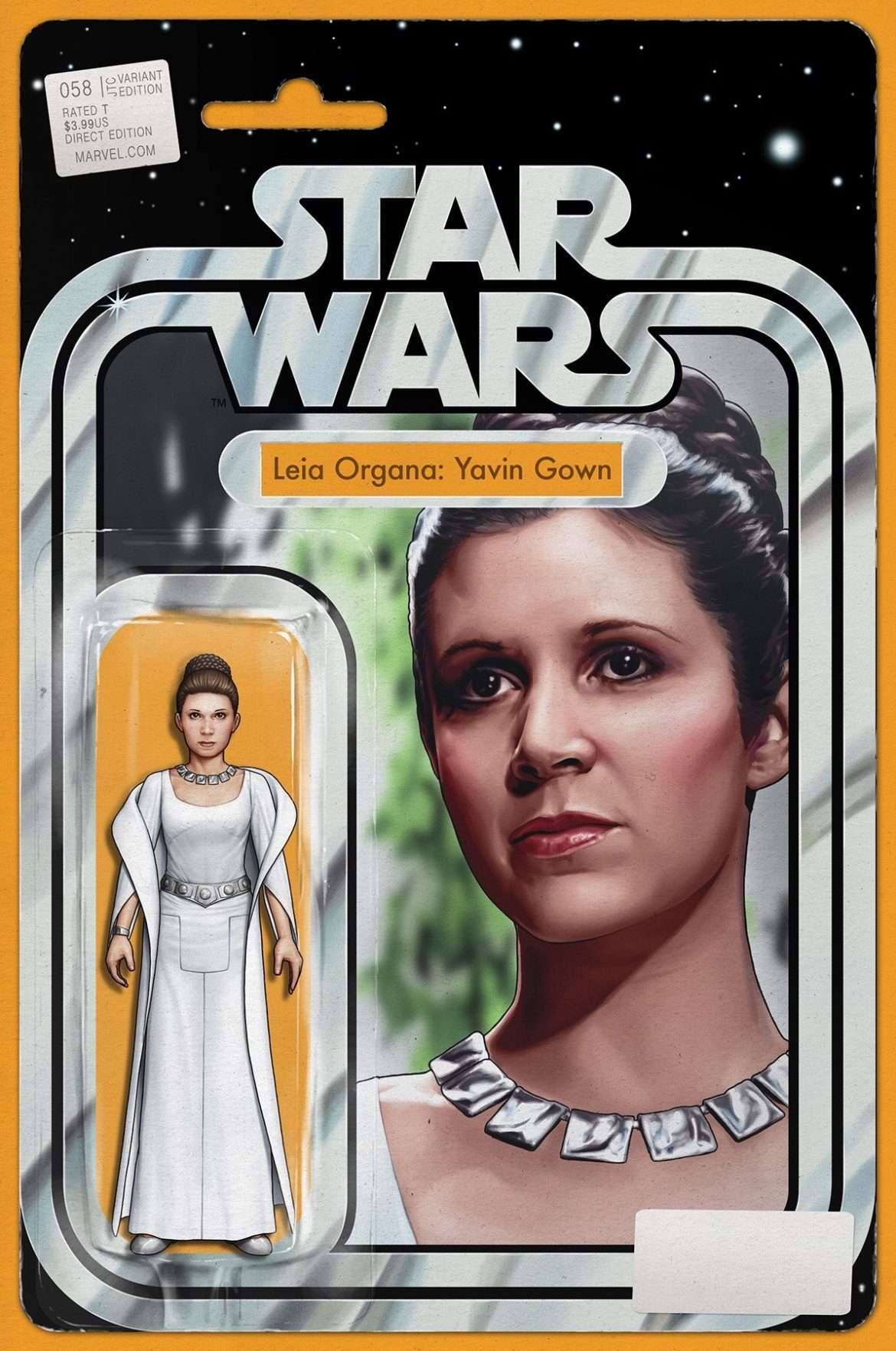 Star Wars #58 action figure variant, Leia Organa Yavin Gown