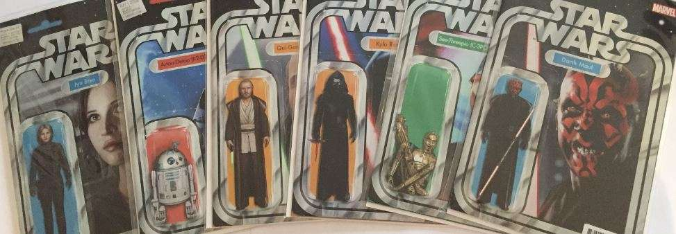 Star Wars Action Figure Variant covers by John Tyler Christopher