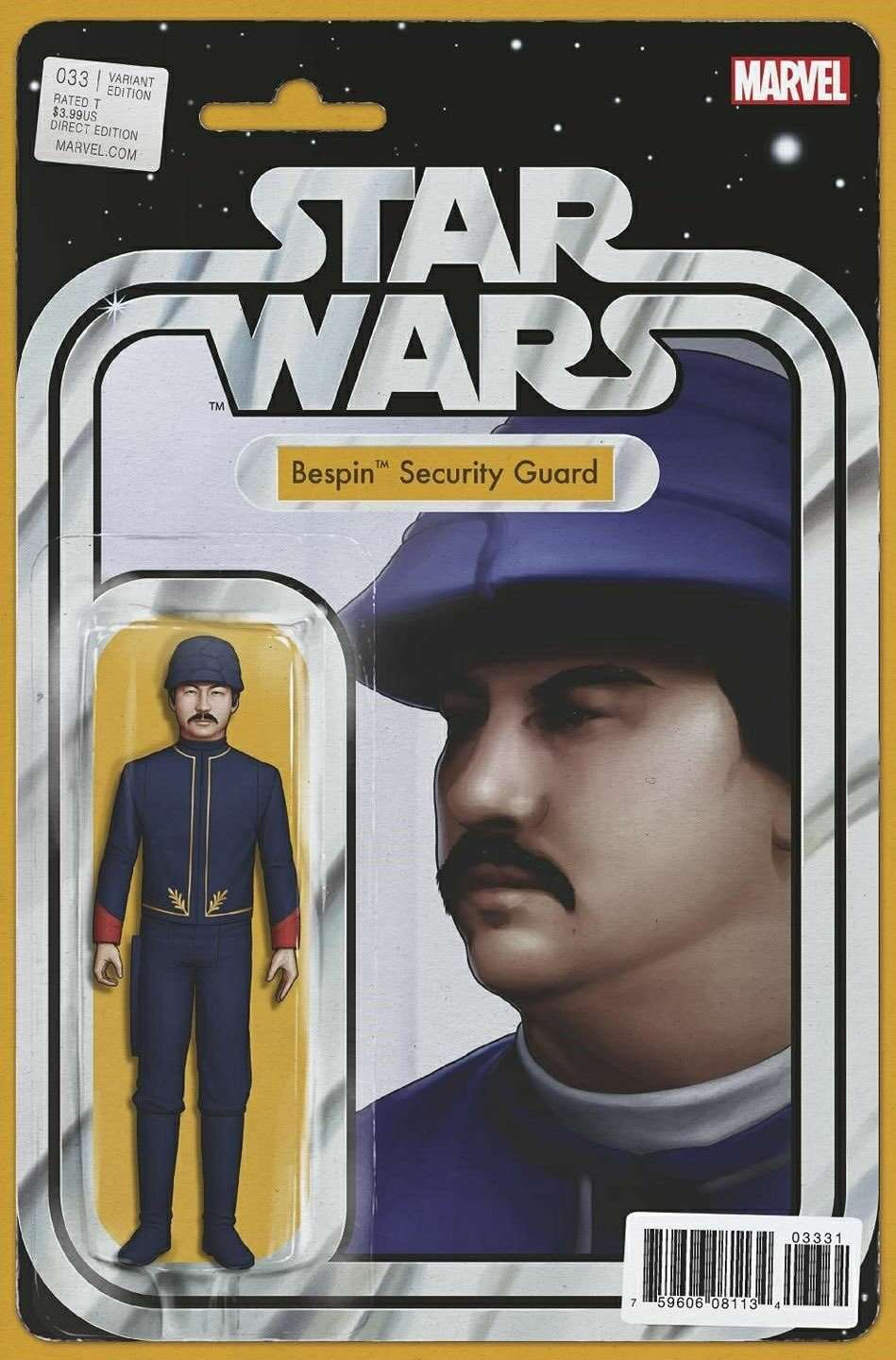 Star Wars #33 Action Figure Variant - Bespin Security Guard