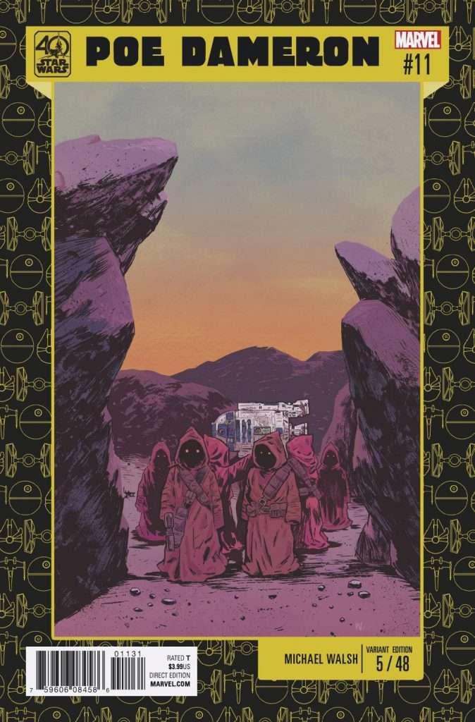 Poe Dameron #11 40th Anniversary variant cover