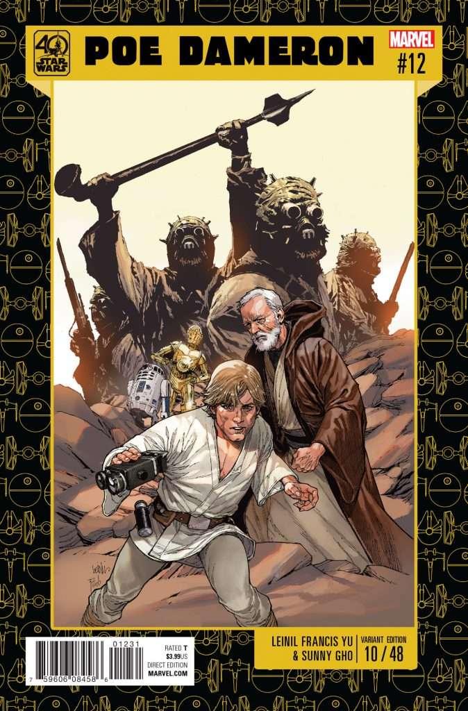 Poe Dameron #12 40th Anniversary variant cover