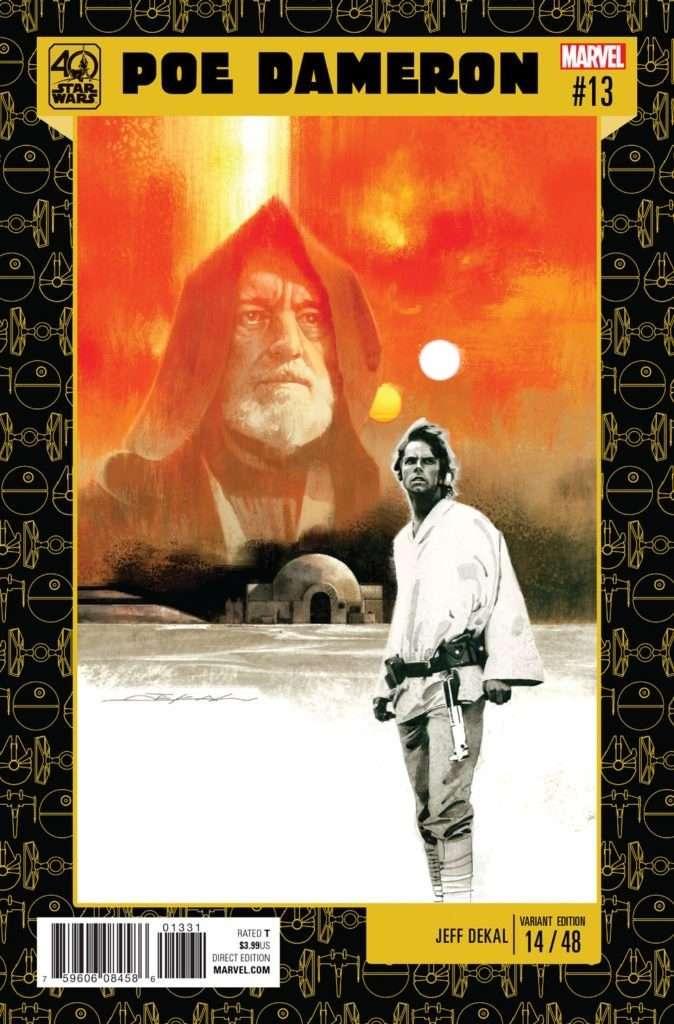 Poe Dameron #13 40th Anniversary variant cover