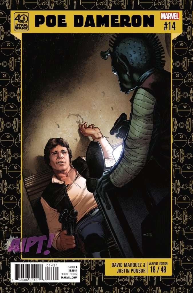 Poe Dameron #14 40th Anniversary variant cover