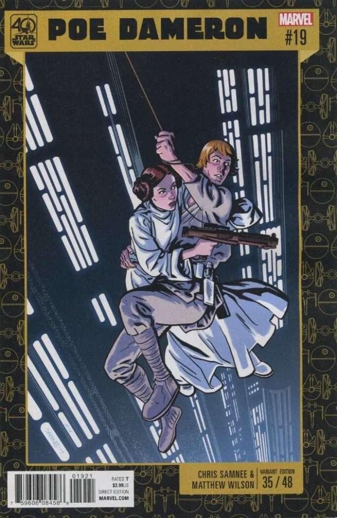 Poe Dameron #19 40th Anniversary variant cover