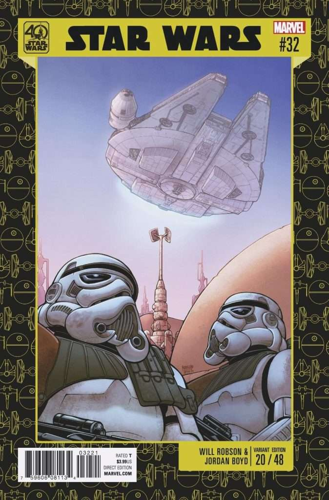 Star Wars #32 40th Anniversary variant cover