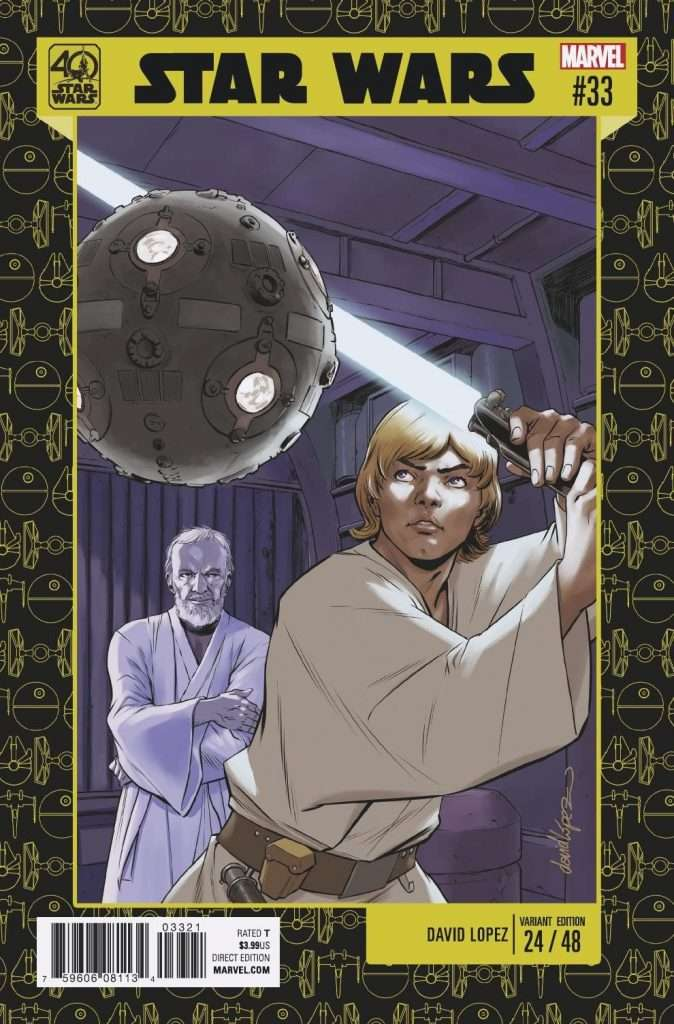 Star Wars #33 40th Anniversary variant cover