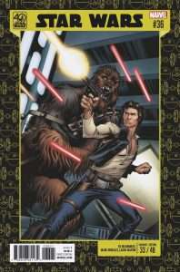 Star Wars #36 40th Anniversary variant cover