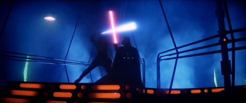 The Empire Strikes Back lightsaber duel
