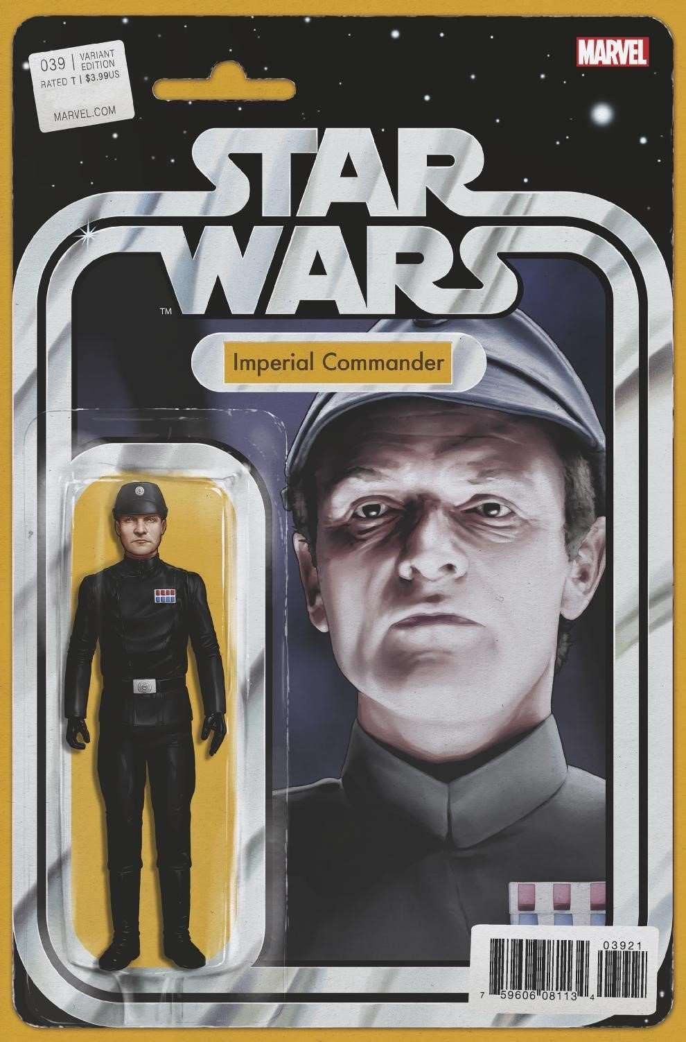 Star Wars #39 Action Figure variant: Imperial Commander