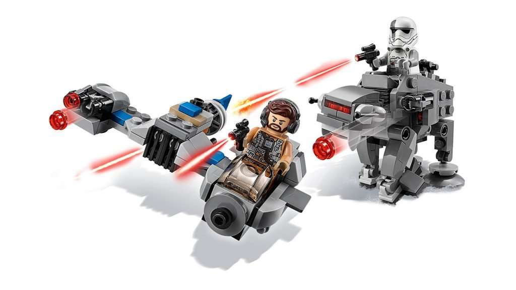 Ski Speeder Vs First Order Walker Microfighters Set
