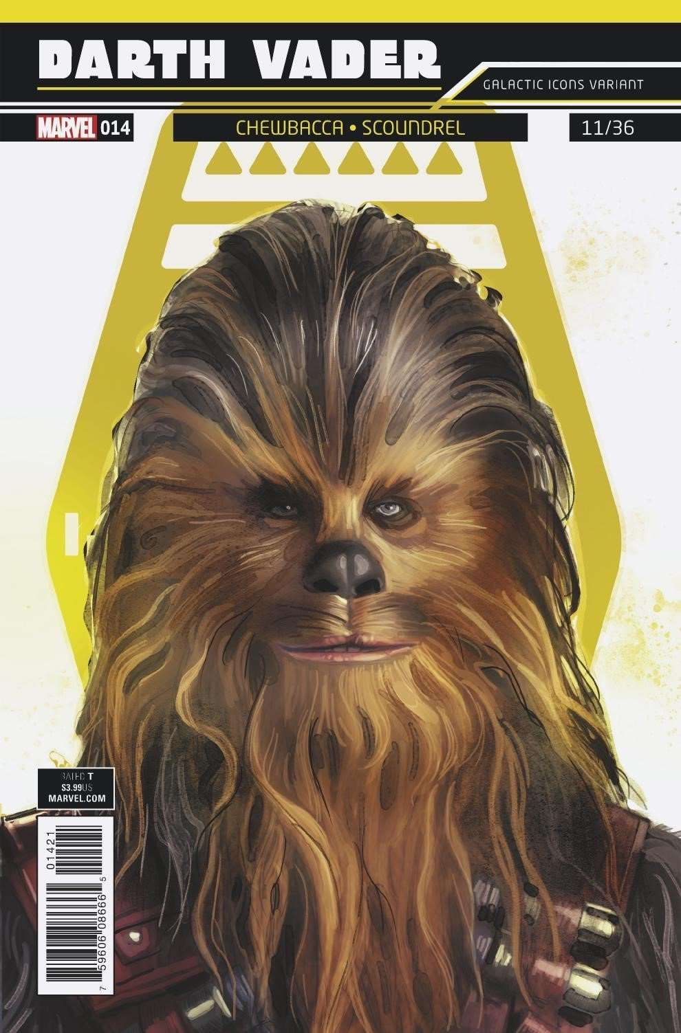 Darth Vader #14, Galactic Icon variant - Chewbacca