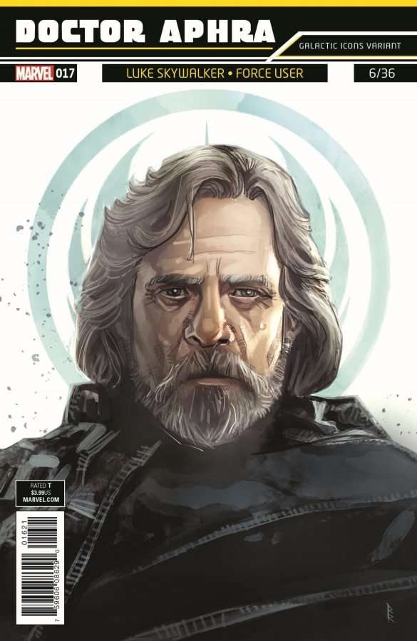 Doctor Aphra #17 Galactic Icons, Luke Skywalker