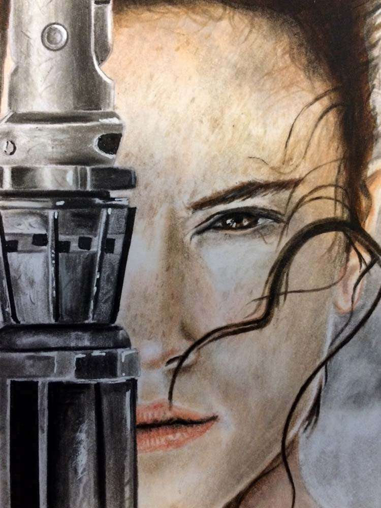 Rey Sketch by Shiers Art