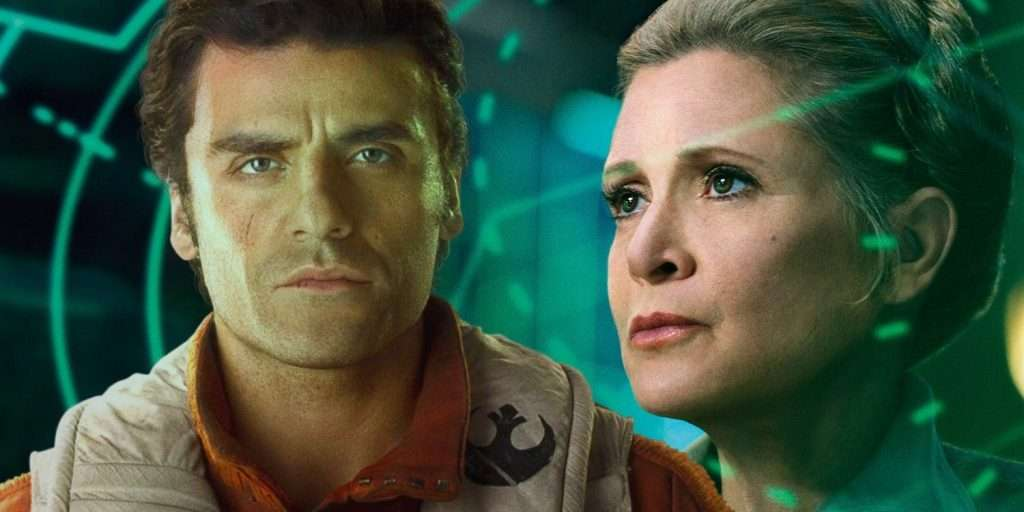 Poe Dameron and Leia