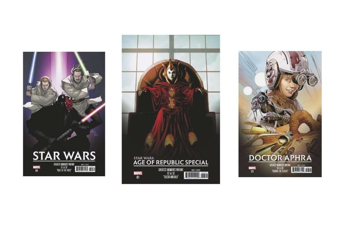 Star Wars Greatest Moments Variant Covers List