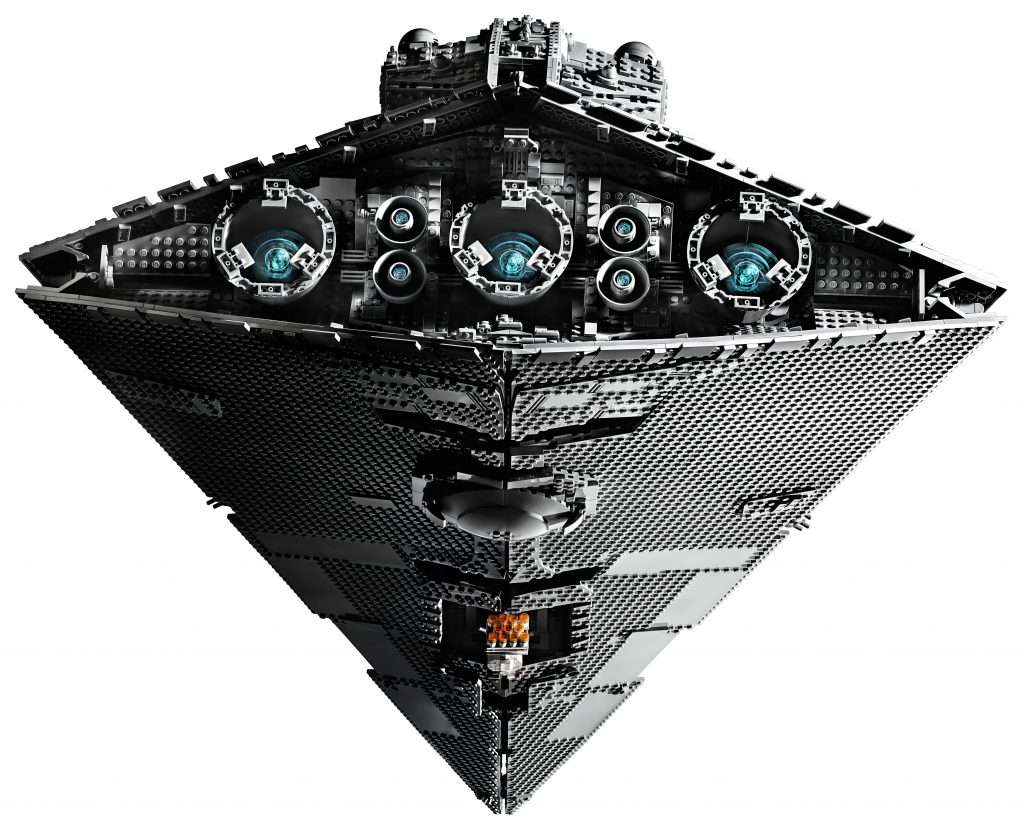 LEGO Star Wars UCS Star Destroyer set from the back