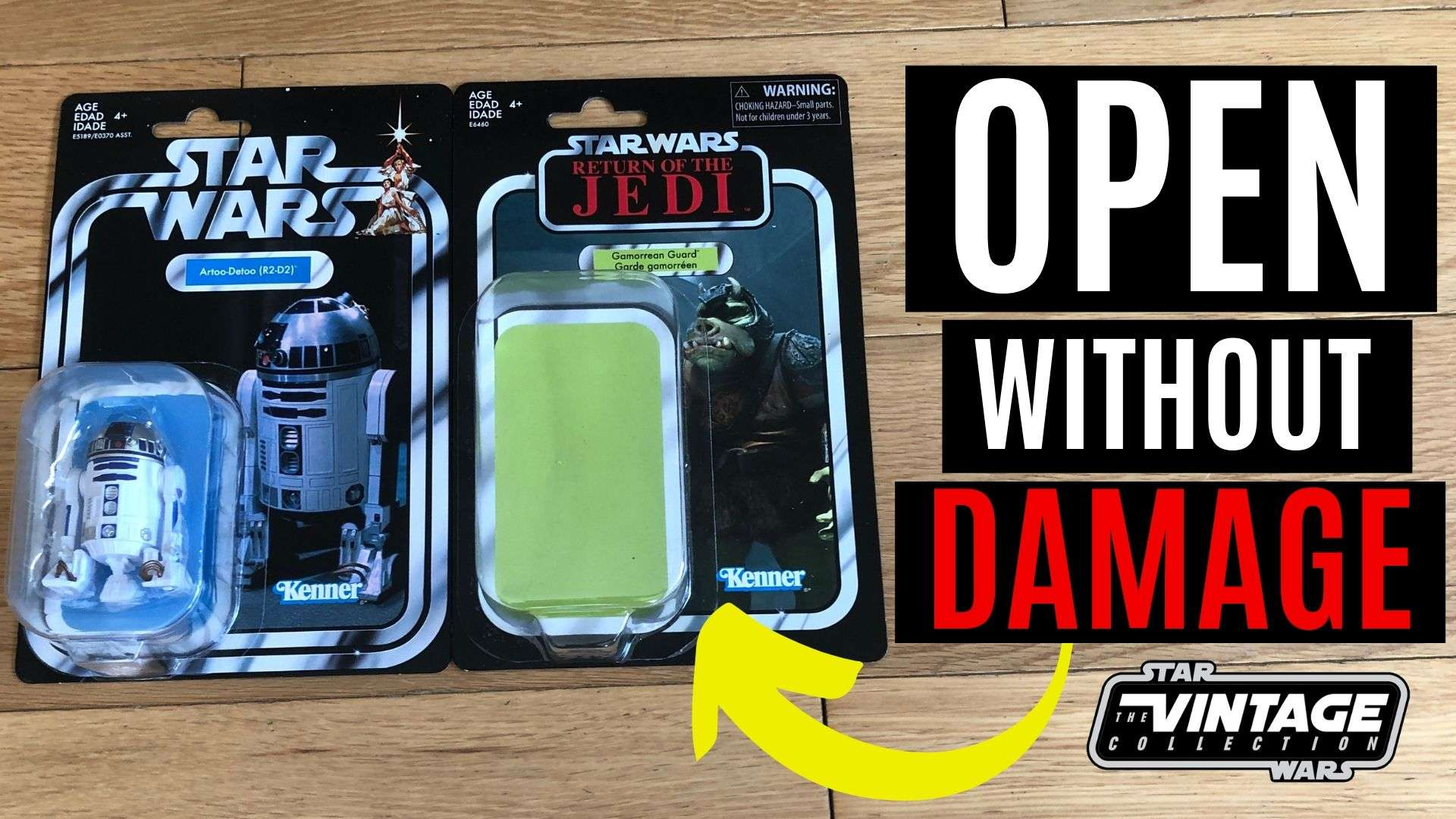 How to open Star Wars action figures