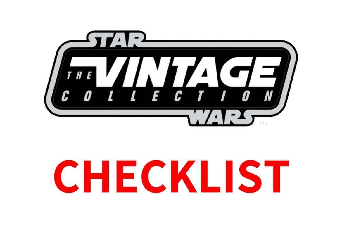 Star Wars The Vintage Collection checklist