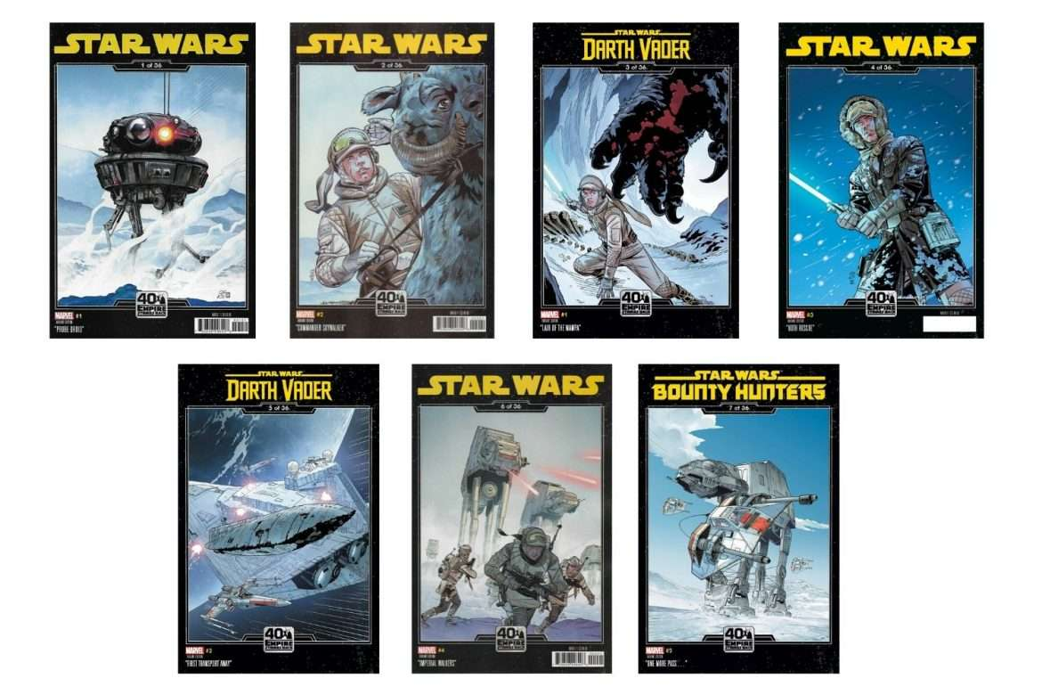 40th Anniversary Empire Strikes Back Variant covers