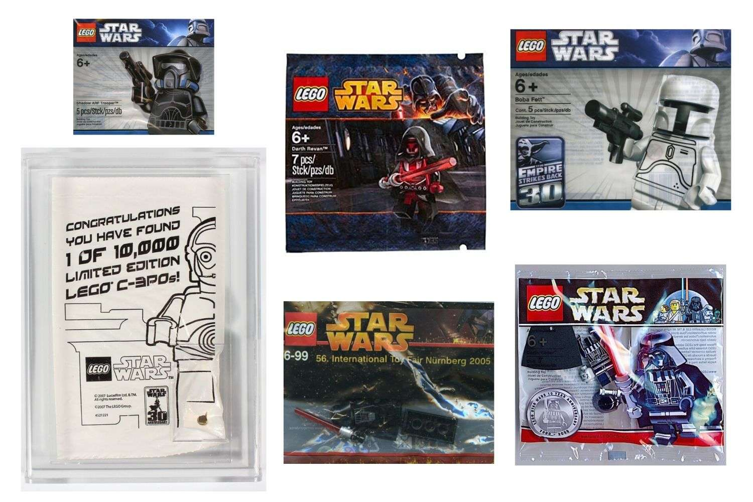 Most Expensive LEGO Star Wars minifigure polybags