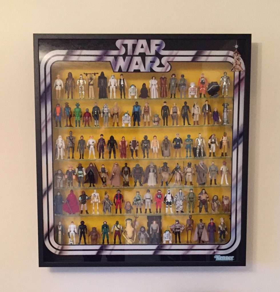 custom built Star Wars figure cabinet