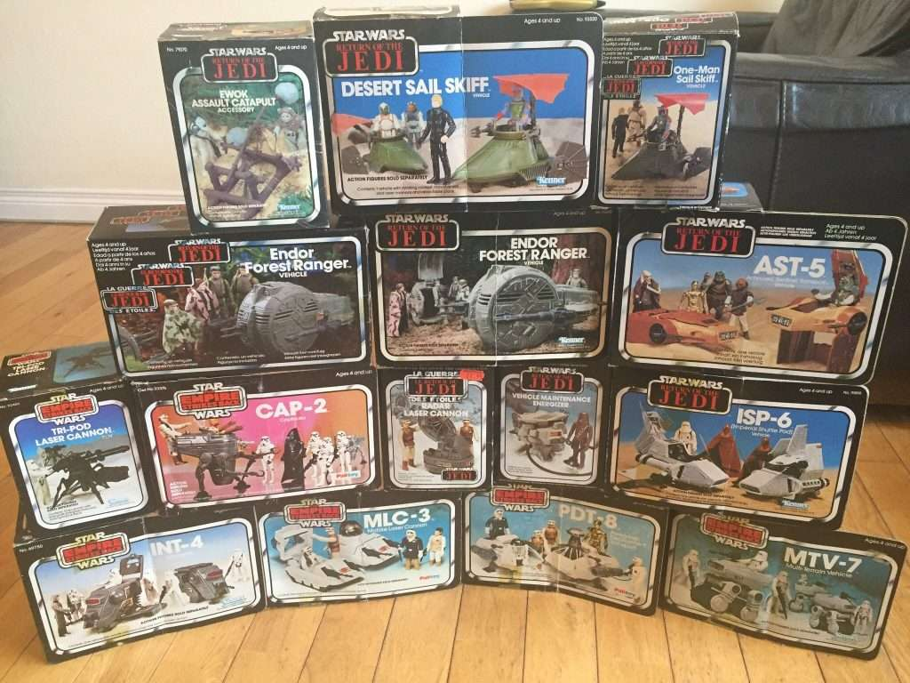 amazing vintage star war vehicle collection