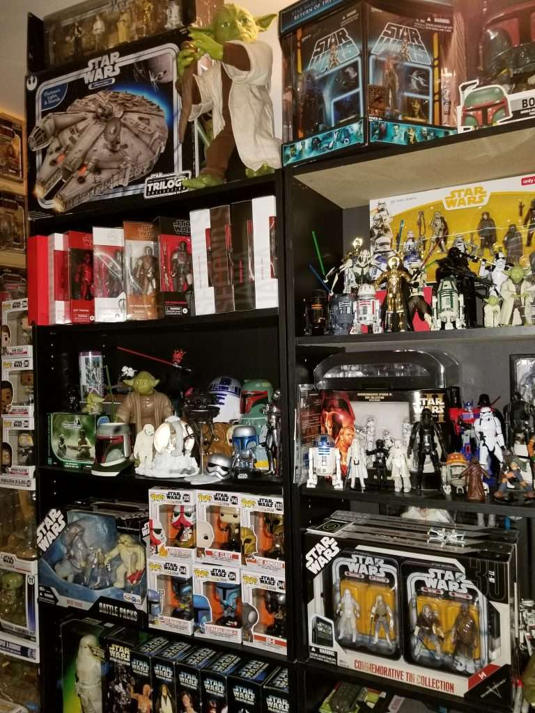 Star Wars Collection on shelves