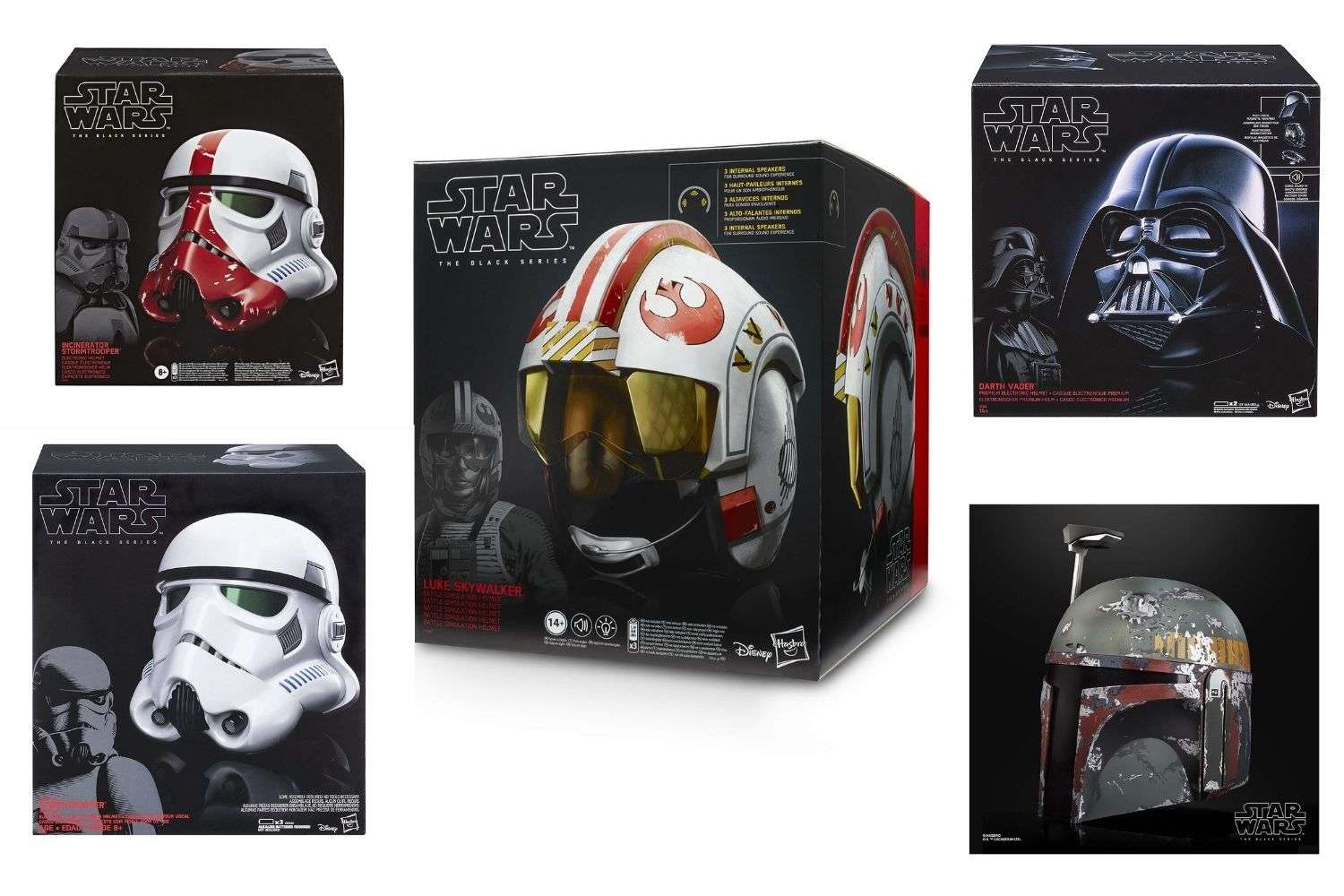 Star Wars The Black Series Replica Helmets by Hasbro
