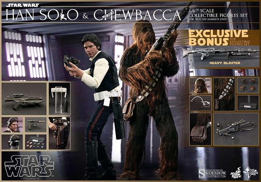 ANH Han Solo and Chewbacca 2 pack MMS263