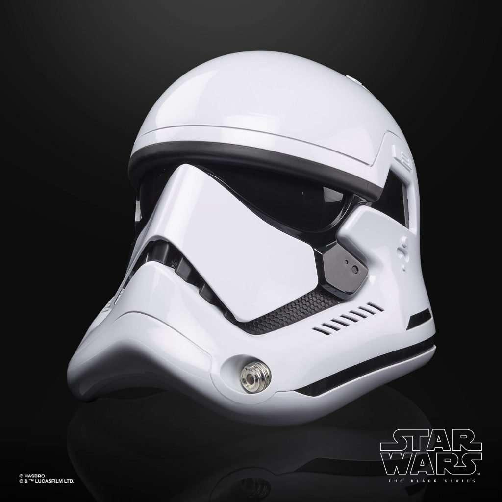Black Series First Order Stormtrooper Helmet side view