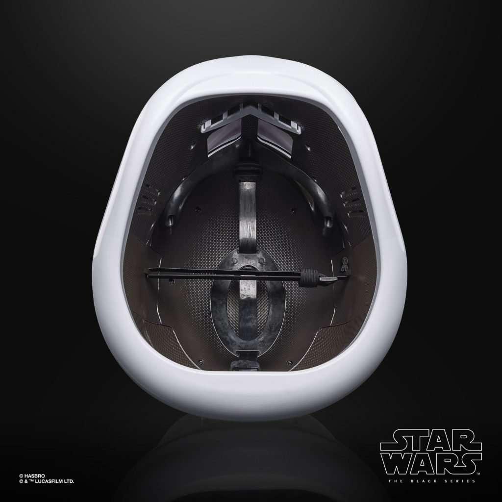 Black Series First Order Stormtrooper helmet inside
