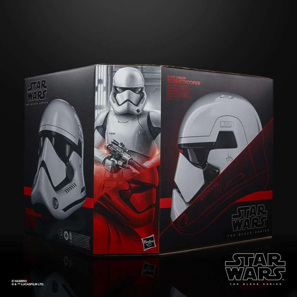 Black Series First Order Stormtrooper Helmet side box
