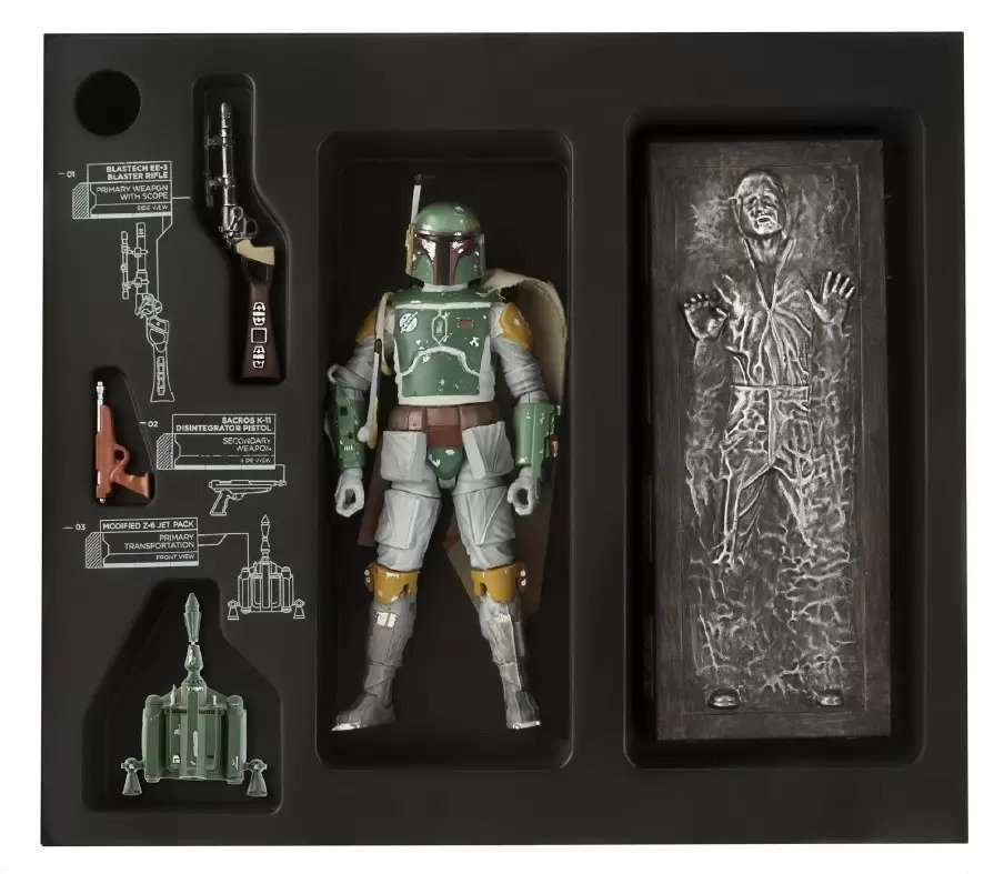 Black Series SDCC Boba Fett & Han Solo in Carbonite