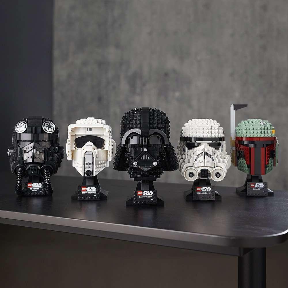 LEGO Star Wars Buildable Helmets display