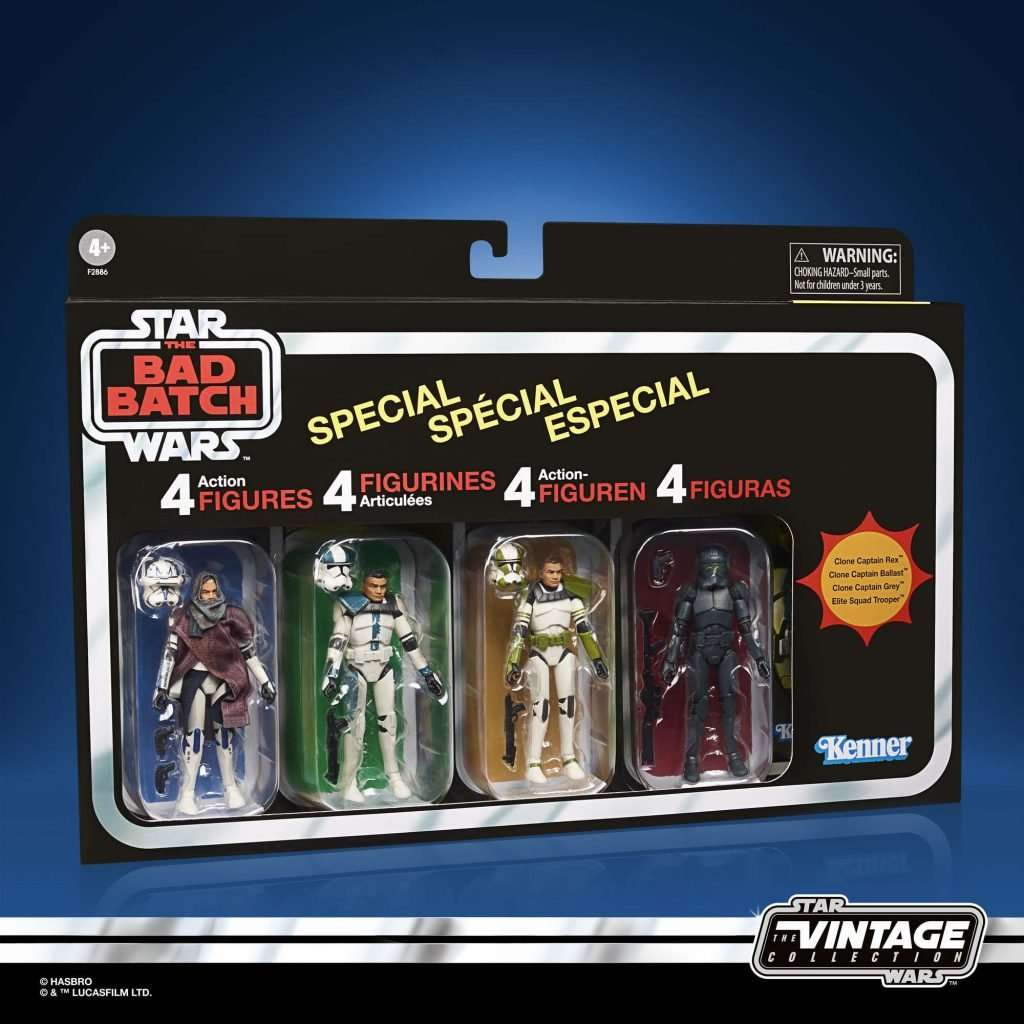 Star Wars The Vintage Collection Bad Batch 4 pack