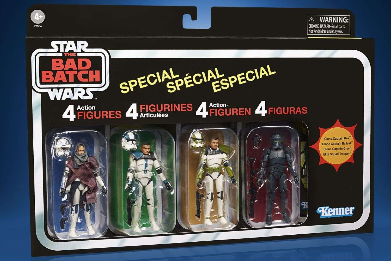Hasbro Star Wars The Vintage Collection Bad Batch 4 pack!