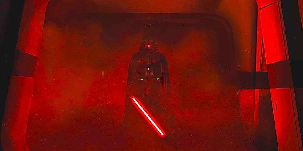 Darth Vader red lightsaber